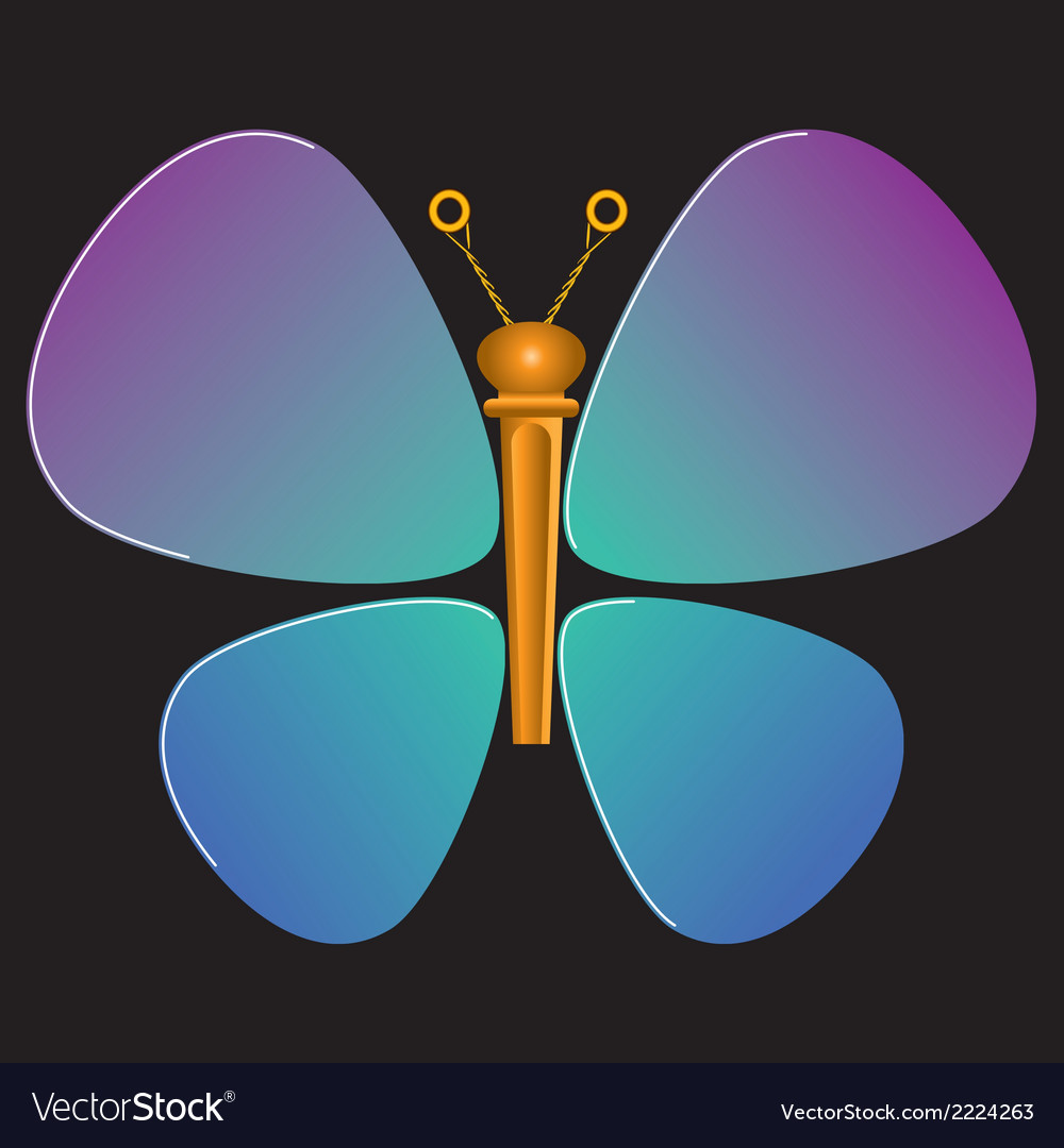 Guitar pick butterfly vector | Price: 1 Credit (USD $1)