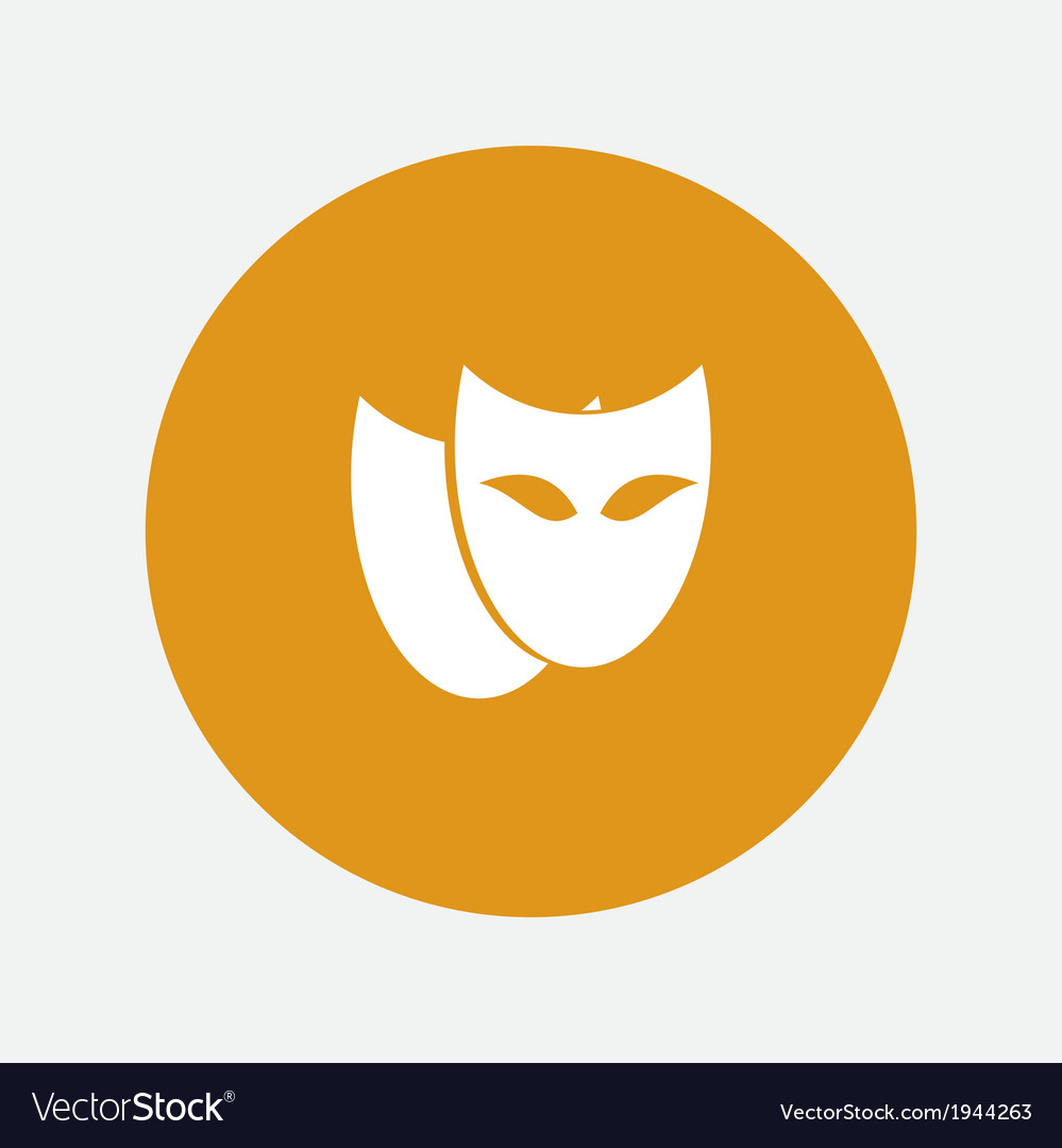 Theatrical masks icon vector | Price: 1 Credit (USD $1)