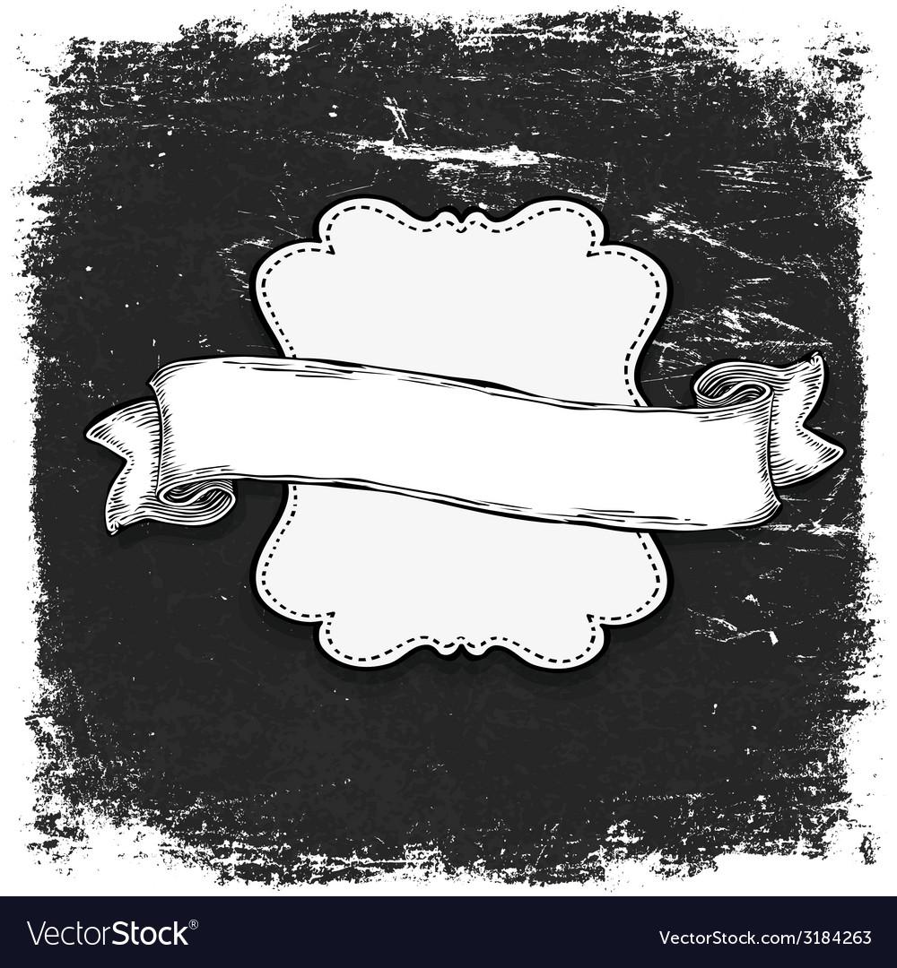 Vintage grunge bw banner vector | Price: 1 Credit (USD $1)