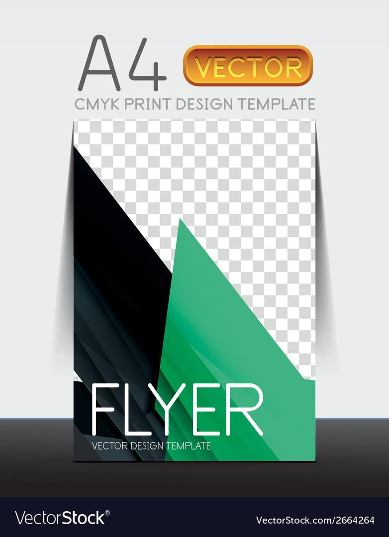 Abstract flyer brochure design vector | Price: 1 Credit (USD $1)