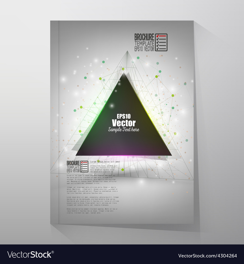 Abstract triangle design brochure flyer or report vector | Price: 1 Credit (USD $1)