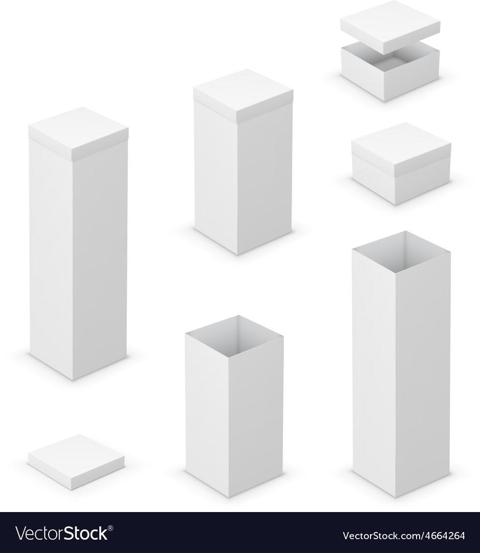 Cardboard boxes vector | Price: 1 Credit (USD $1)