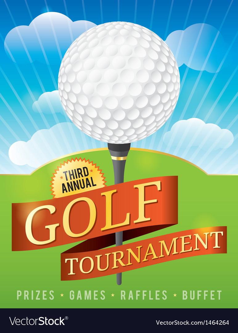 Golf tournament invitation design vector | Price: 1 Credit (USD $1)
