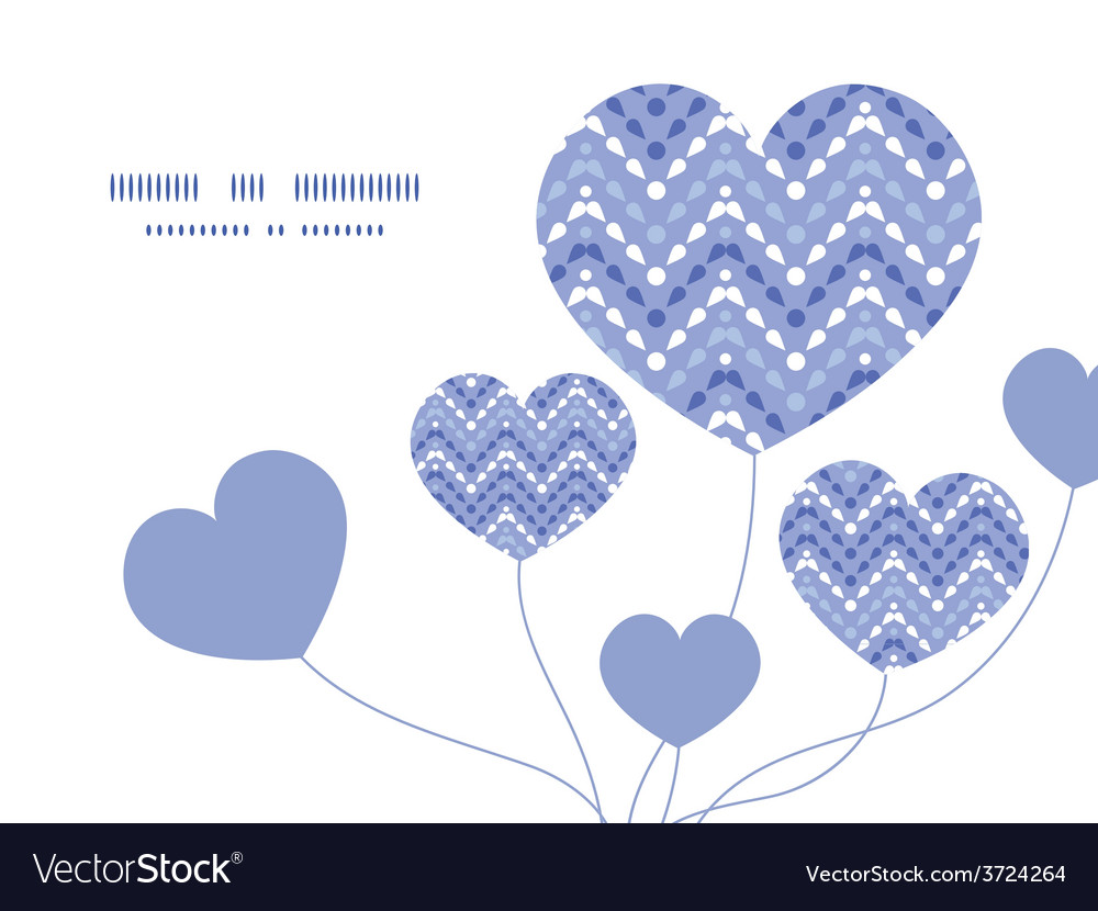Purple drops chevron heart symbol frame vector | Price: 1 Credit (USD $1)