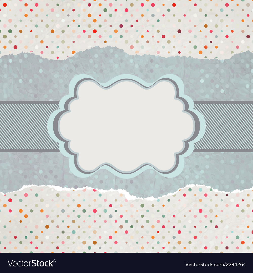 Vintage card with space for text eps 8 vector | Price: 1 Credit (USD $1)