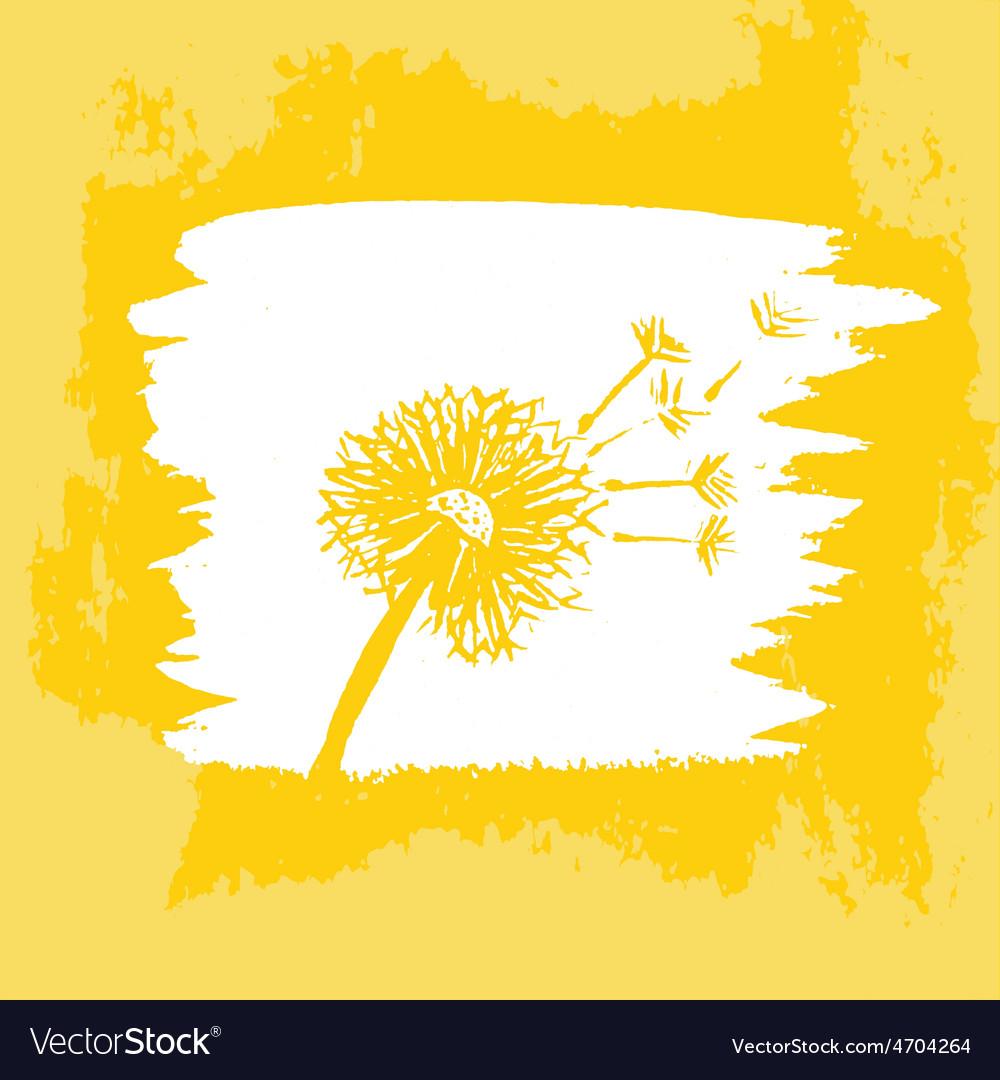 Watercolor graphic dandelion vector | Price: 1 Credit (USD $1)
