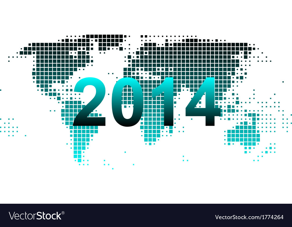 World map 2014 vector | Price: 1 Credit (USD $1)