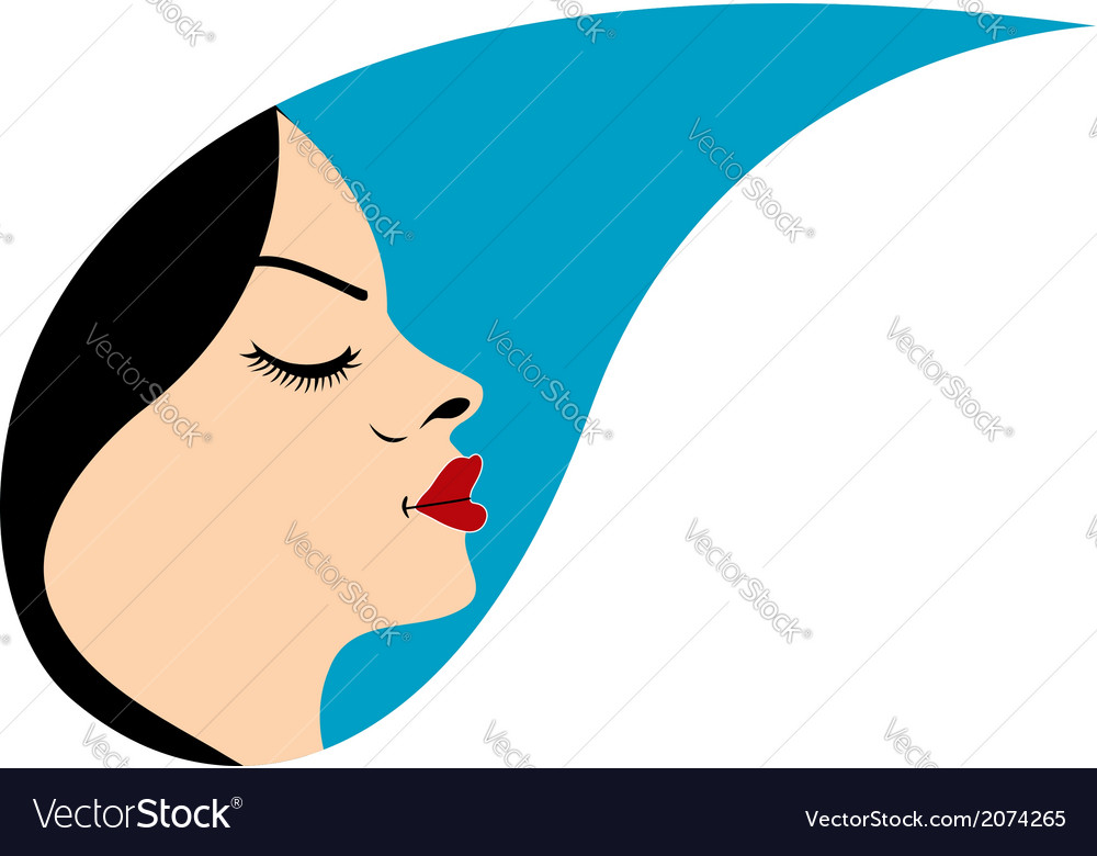 Beautiful woman in a droplet vector | Price: 1 Credit (USD $1)