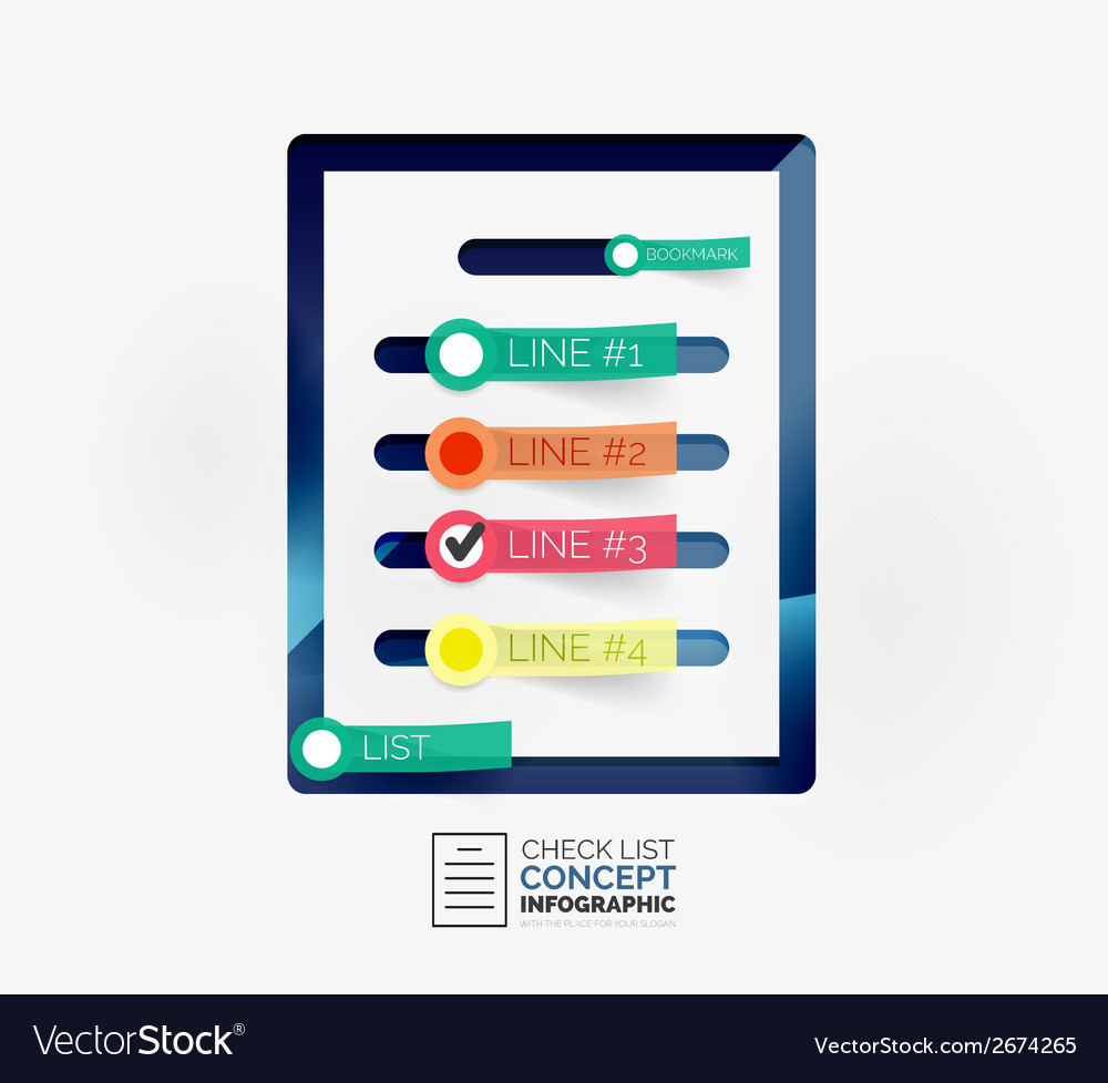 Check list infographic concept vector | Price: 1 Credit (USD $1)