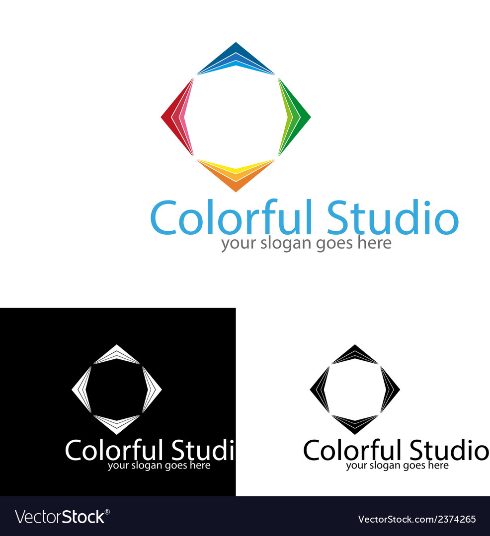 Colorful studio logo template vector | Price: 1 Credit (USD $1)
