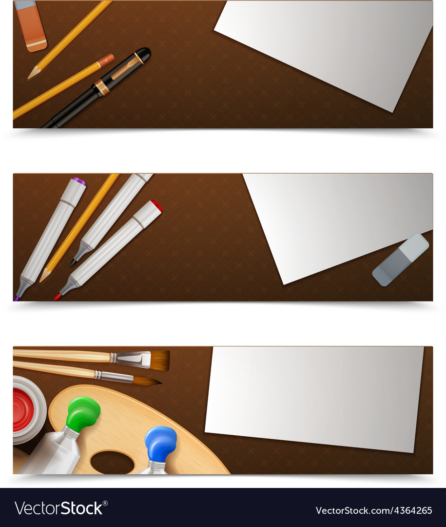 Drawing banners horizontal vector   Price: 1 Credit (USD $1)