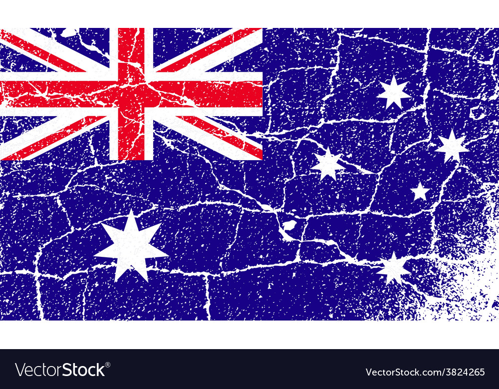 Flag of australia with old texture vector   Price: 1 Credit (USD $1)