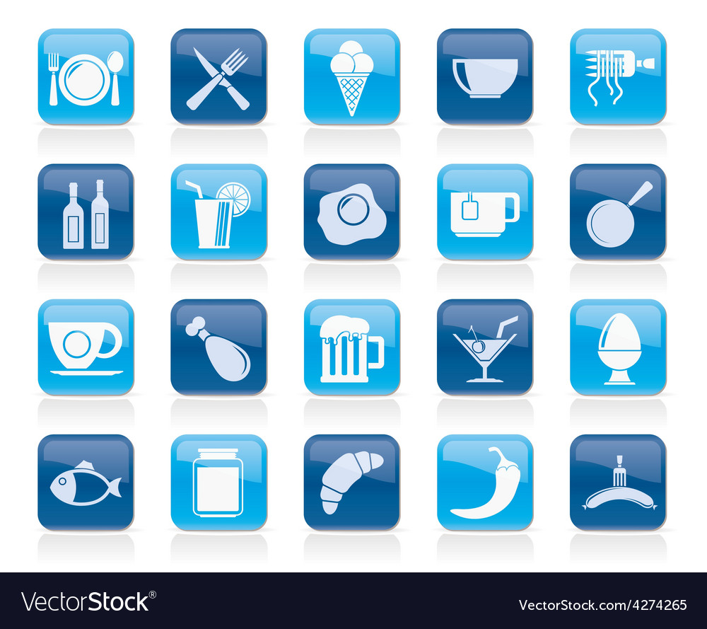 Food drink and restaurant icons vector | Price: 1 Credit (USD $1)