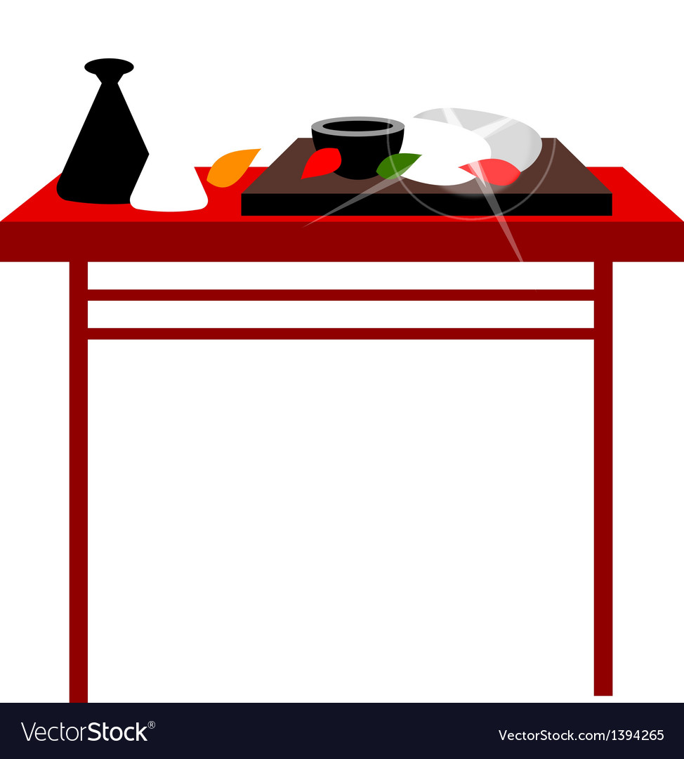 The foods on the table vector | Price: 1 Credit (USD $1)