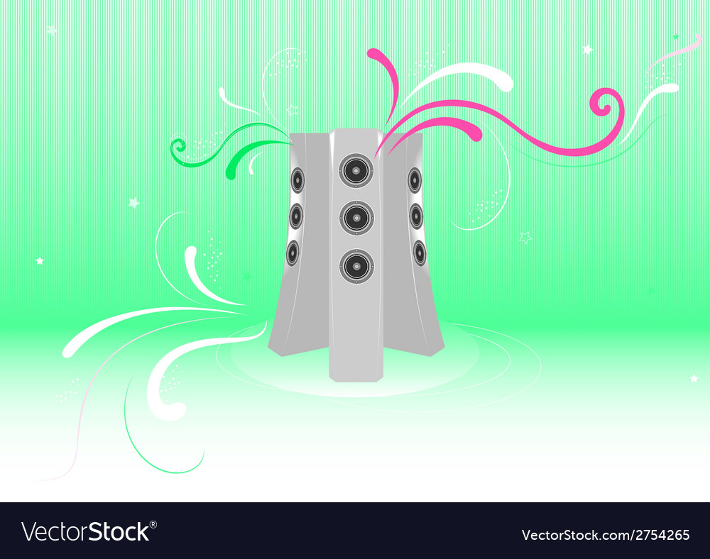 Fresh music abstract background vector | Price: 1 Credit (USD $1)