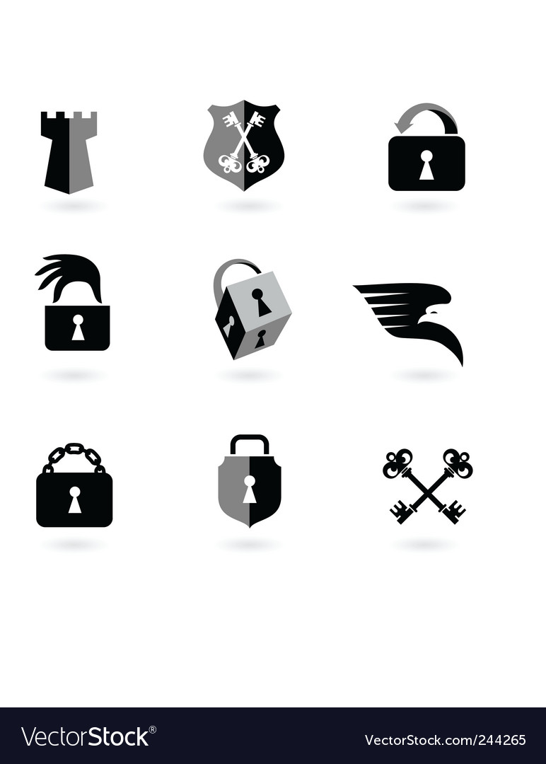 Locks security vector | Price: 1 Credit (USD $1)