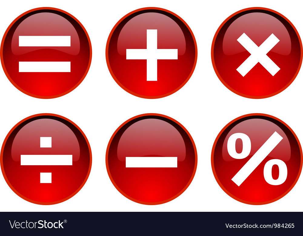 Math symbol vector | Price: 1 Credit (USD $1)