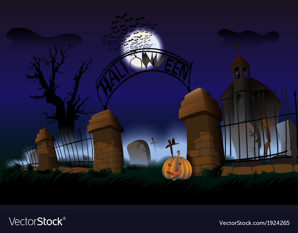 Night of halloween vector | Price: 5 Credit (USD $5)