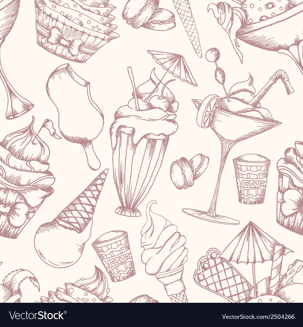 Cake seamless pattern vector | Price: 1 Credit (USD $1)