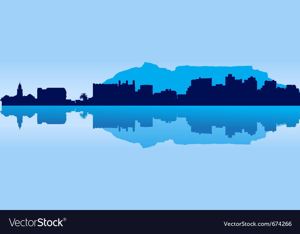 Cape town skyline vector | Price: 1 Credit (USD $1)