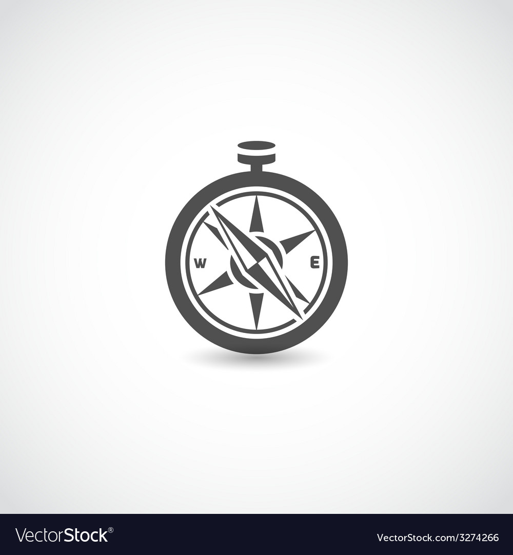 Compass black isolated vector | Price: 1 Credit (USD $1)