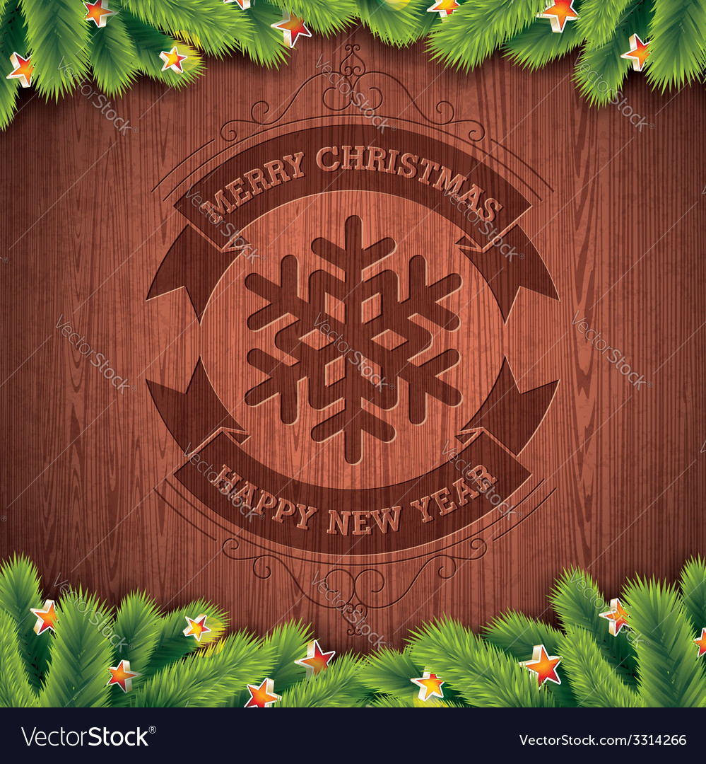Engraved merry christmas typographic design vector | Price: 1 Credit (USD $1)