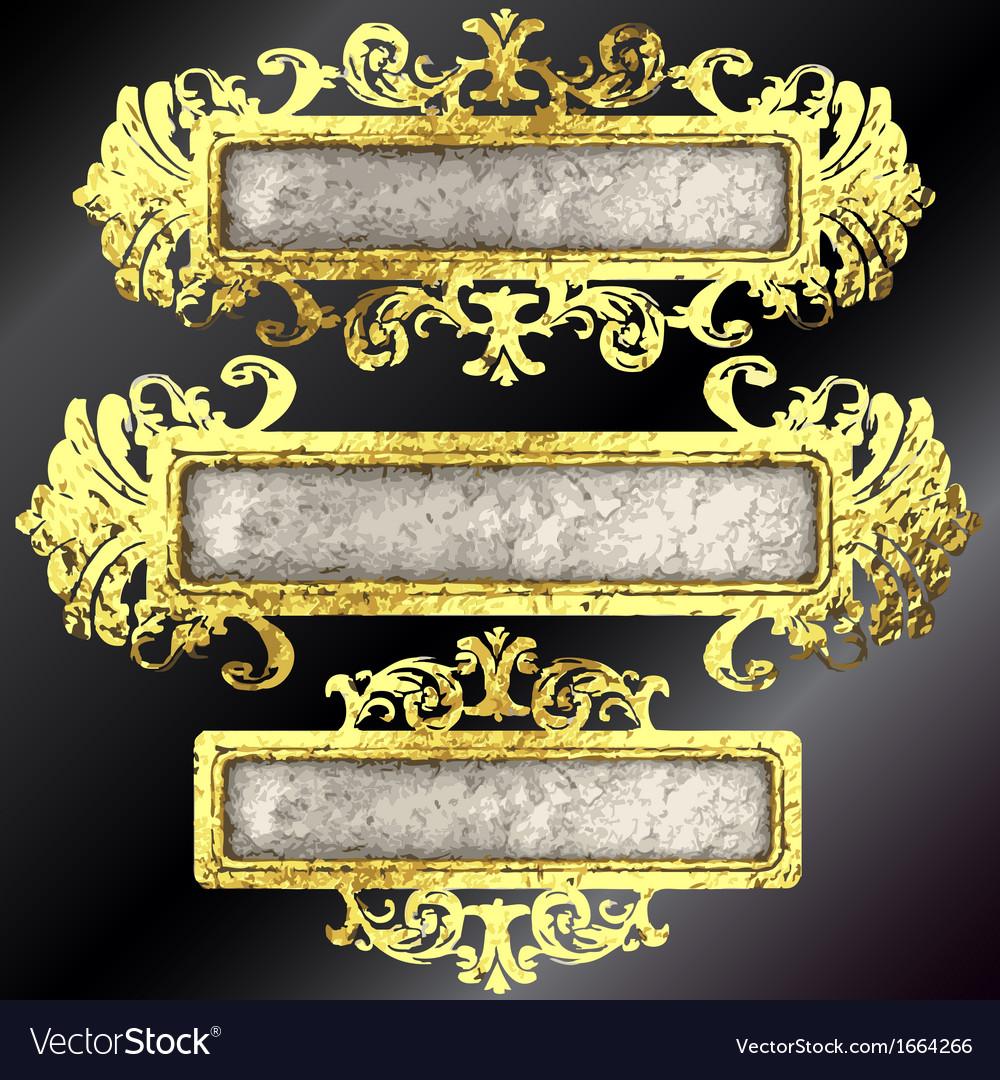 Golden frames set vector | Price: 1 Credit (USD $1)