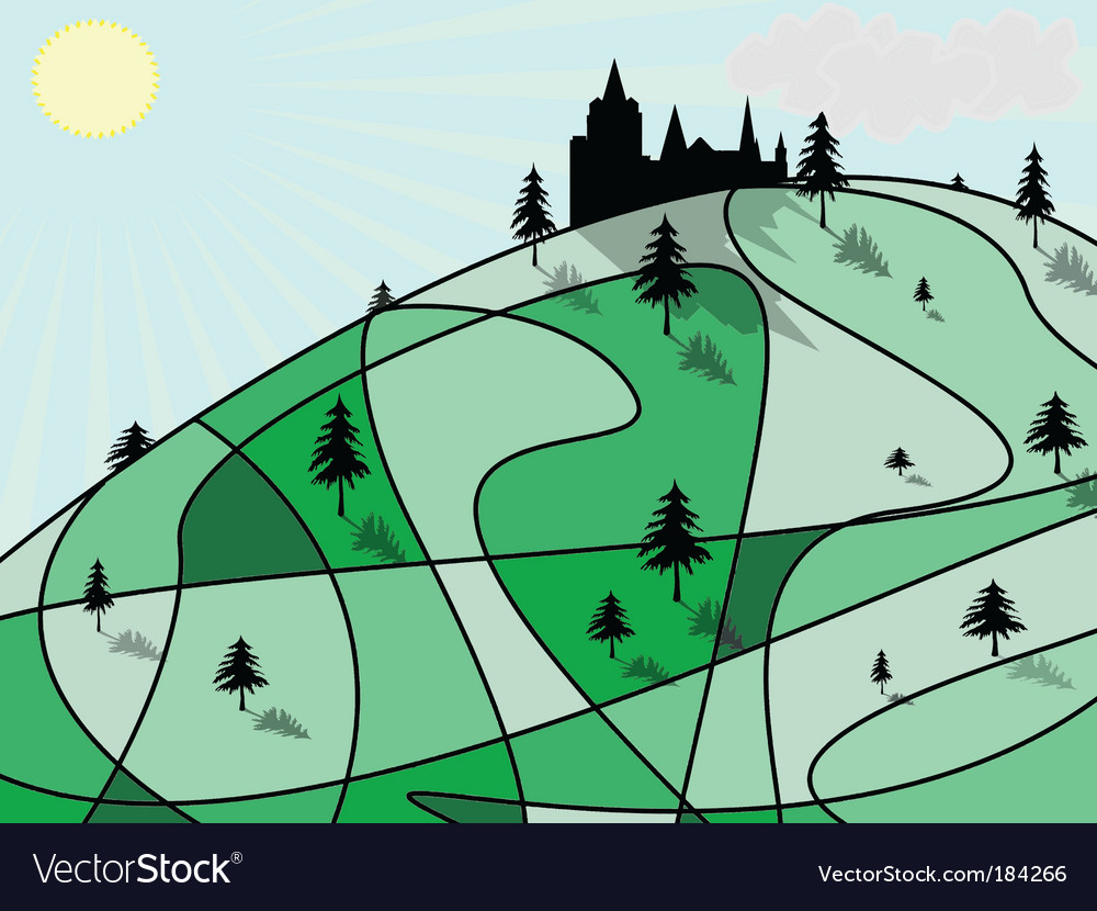Green hill vector | Price: 1 Credit (USD $1)
