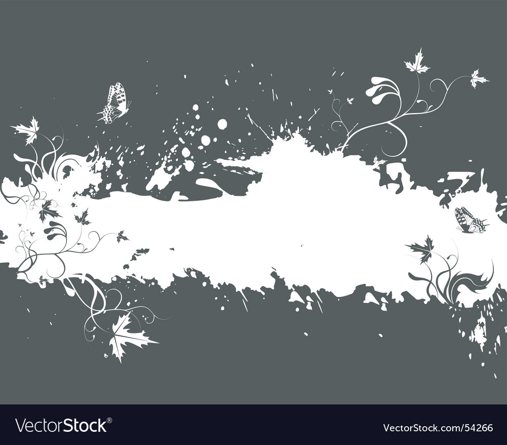 Grunge nature border vector | Price: 1 Credit (USD $1)