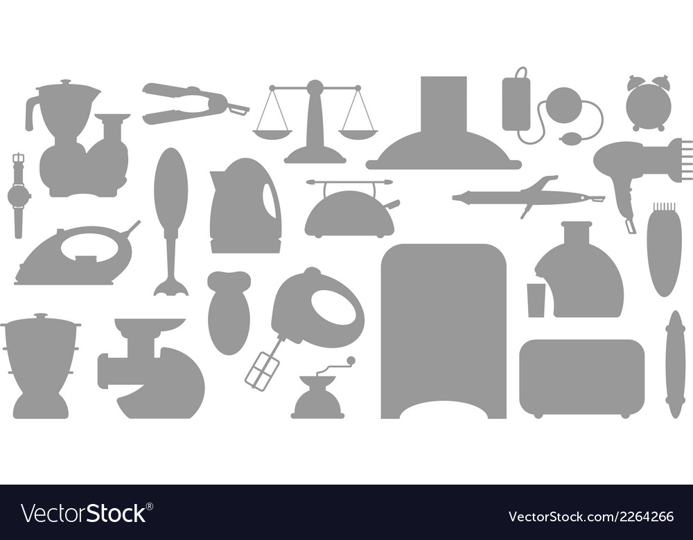 Household appliance icons set vector | Price: 1 Credit (USD $1)