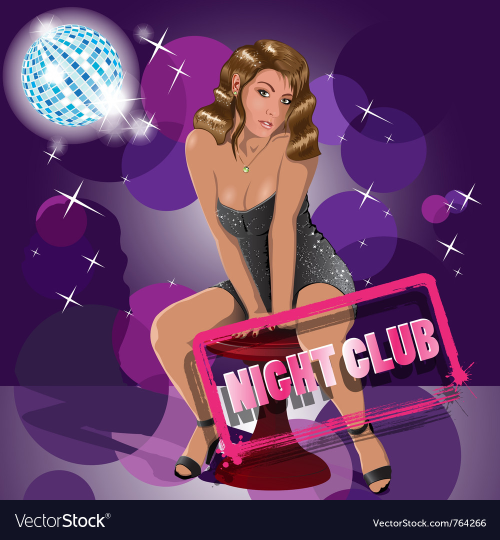 Night club girl vector | Price: 3 Credit (USD $3)