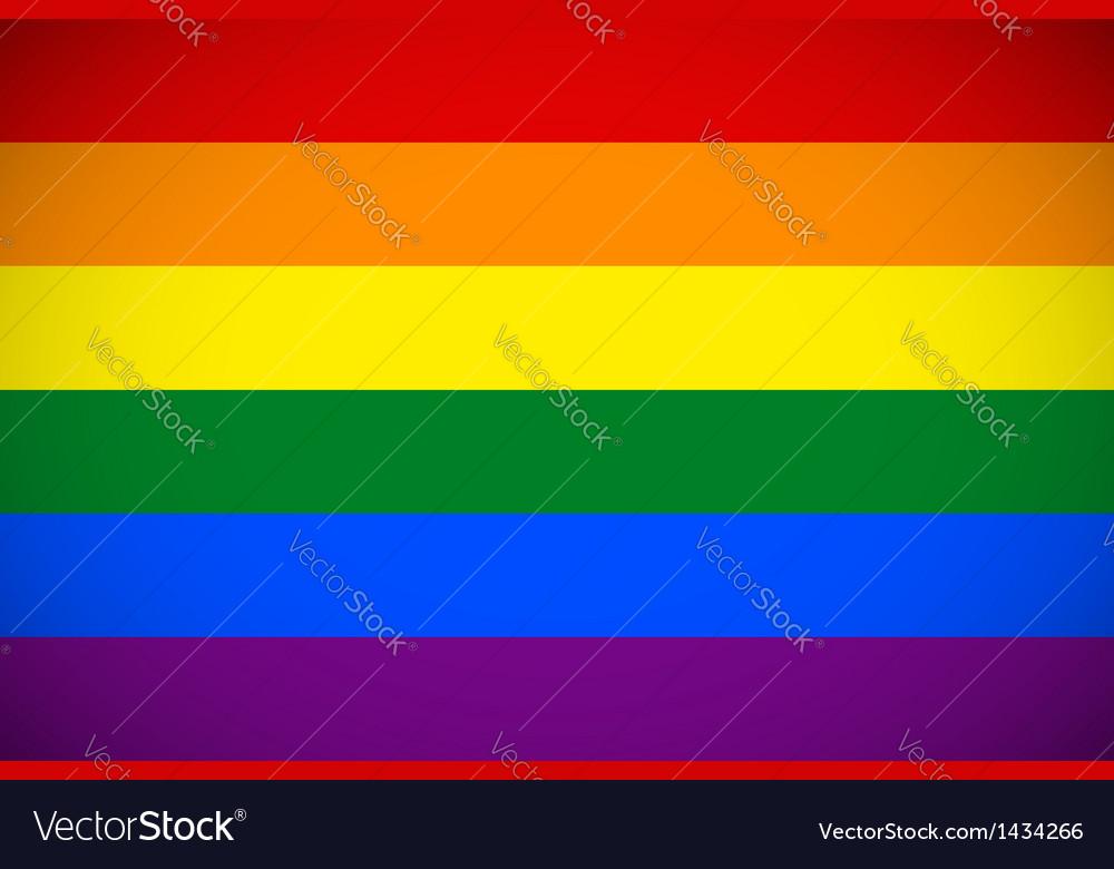 Rainbow flag vector | Price: 1 Credit (USD $1)