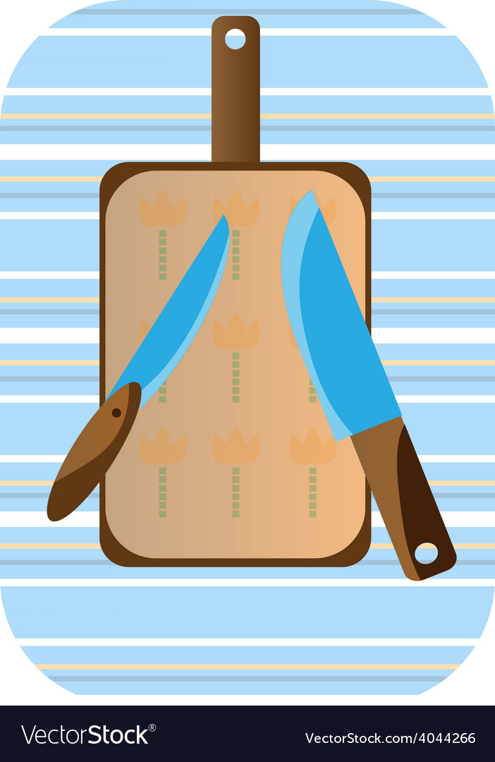 Two knives and a cutting board vector | Price: 1 Credit (USD $1)