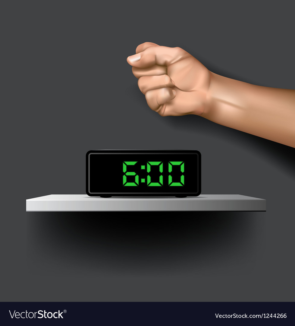 Wake up alarm vector | Price: 3 Credit (USD $3)