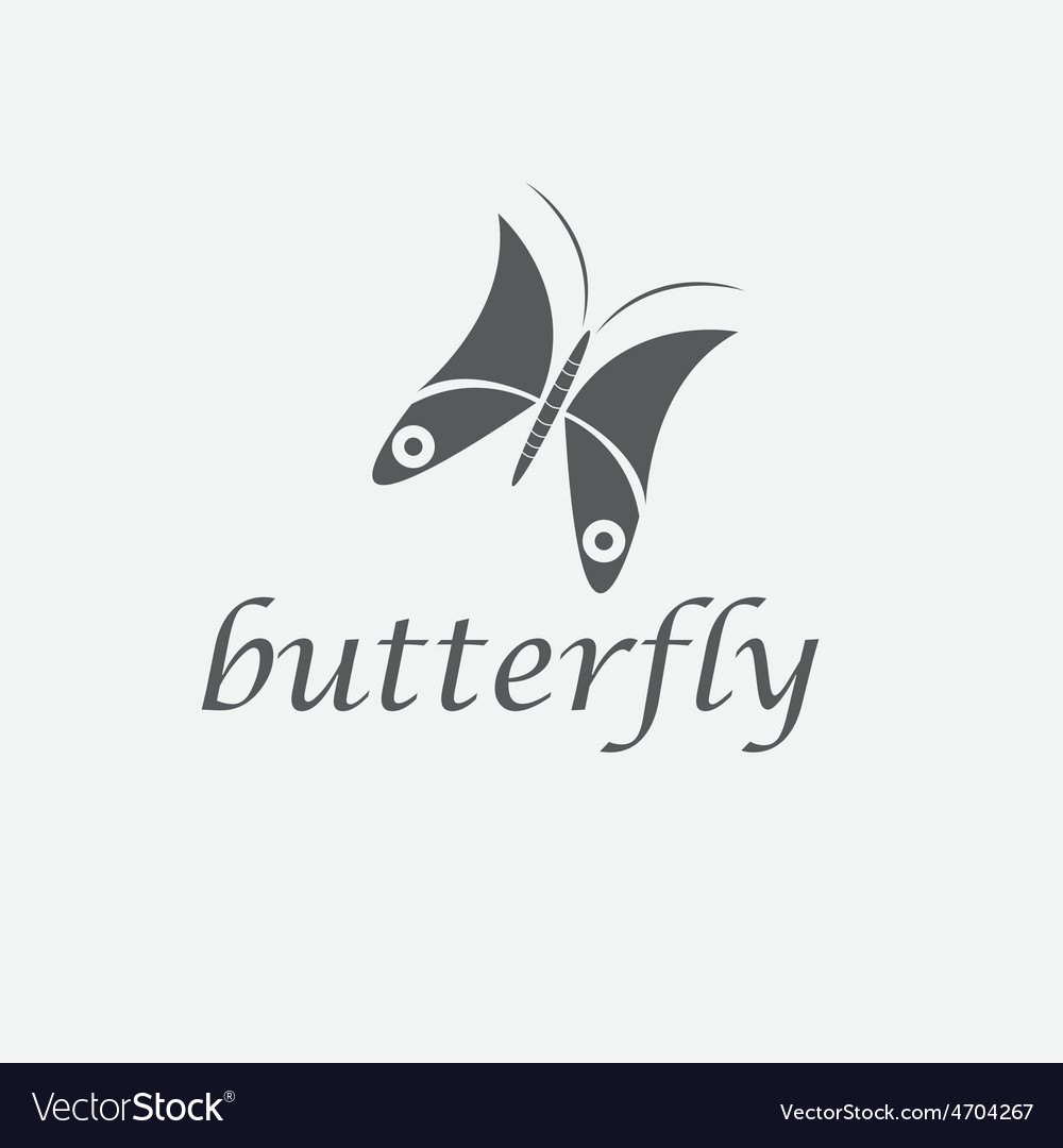 Abstract cute butterfly design template vector | Price: 1 Credit (USD $1)