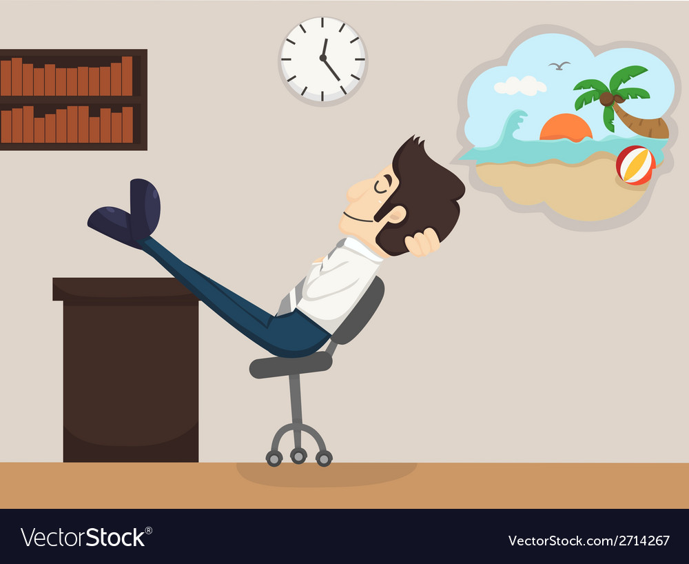 Businessman relax dream vector | Price: 1 Credit (USD $1)