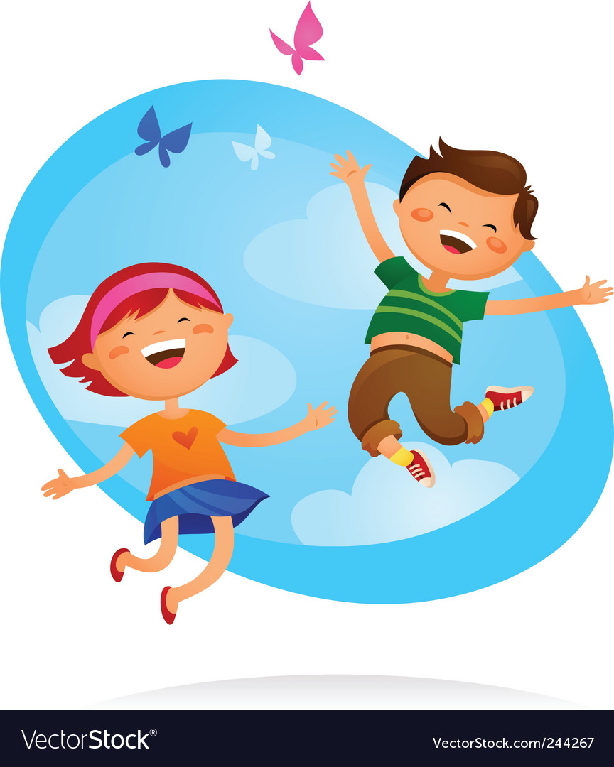 Children at play vector | Price: 1 Credit (USD $1)