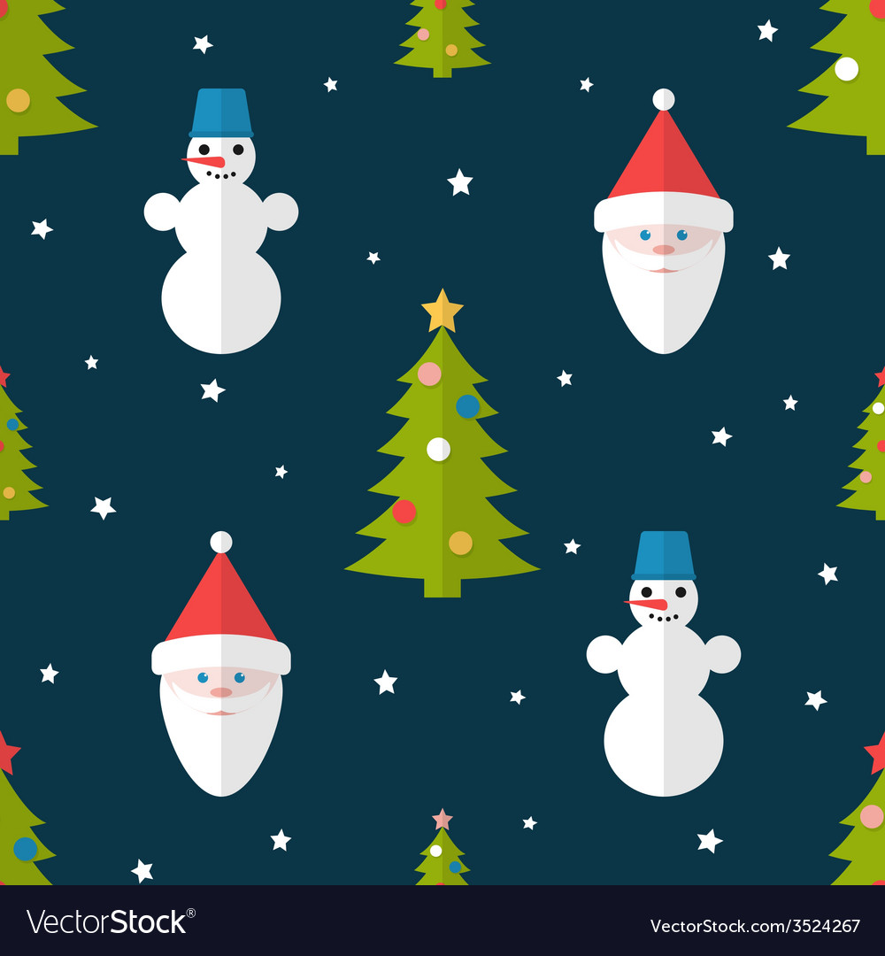 Christmas seamless pattern in flat style vector   Price: 1 Credit (USD $1)