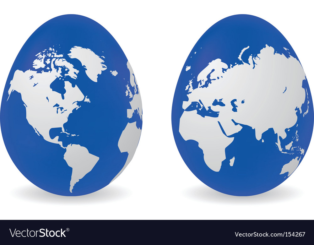 Eggs with global map pattern vector | Price: 1 Credit (USD $1)