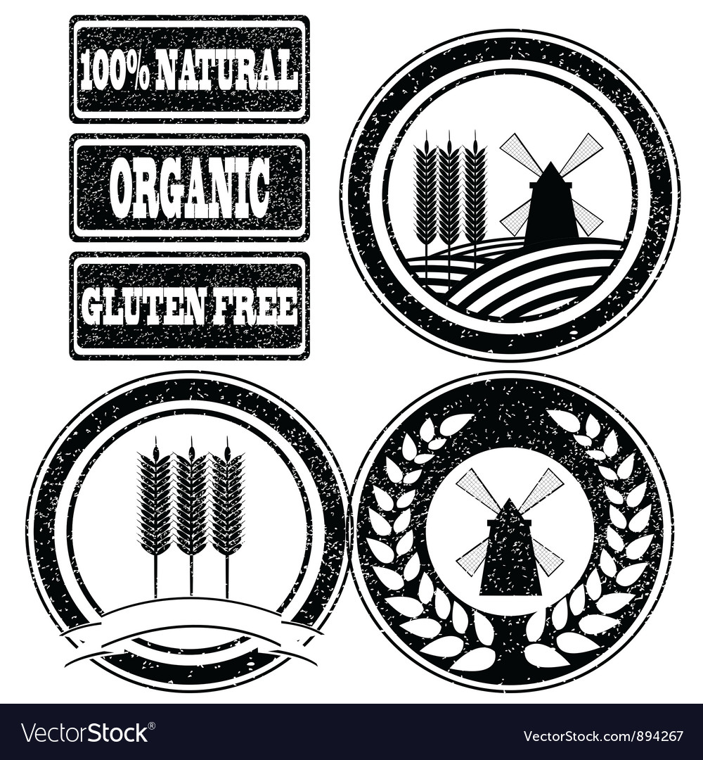 Rubber stamps labels vector | Price: 1 Credit (USD $1)