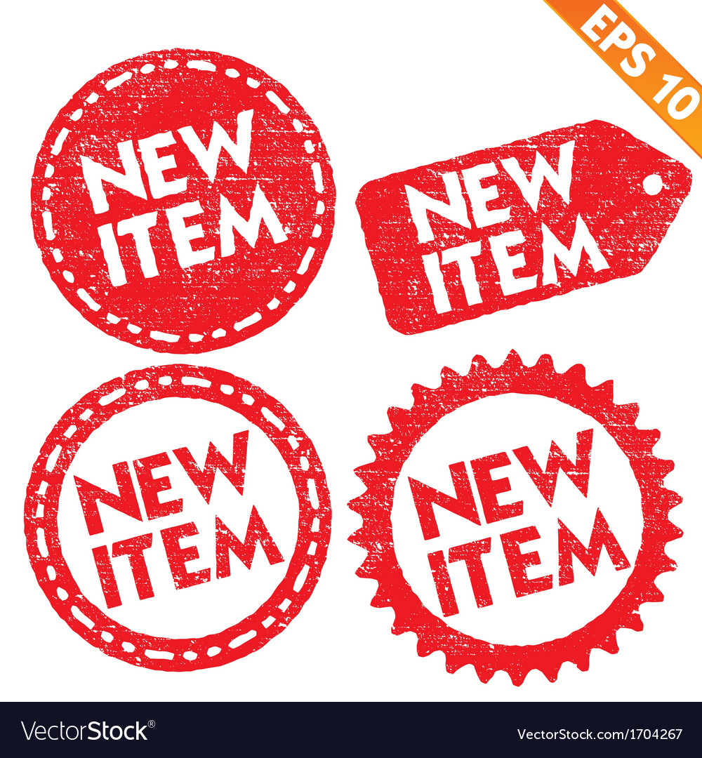 Stamp sticker new item tag collection - - e vector | Price: 1 Credit (USD $1)