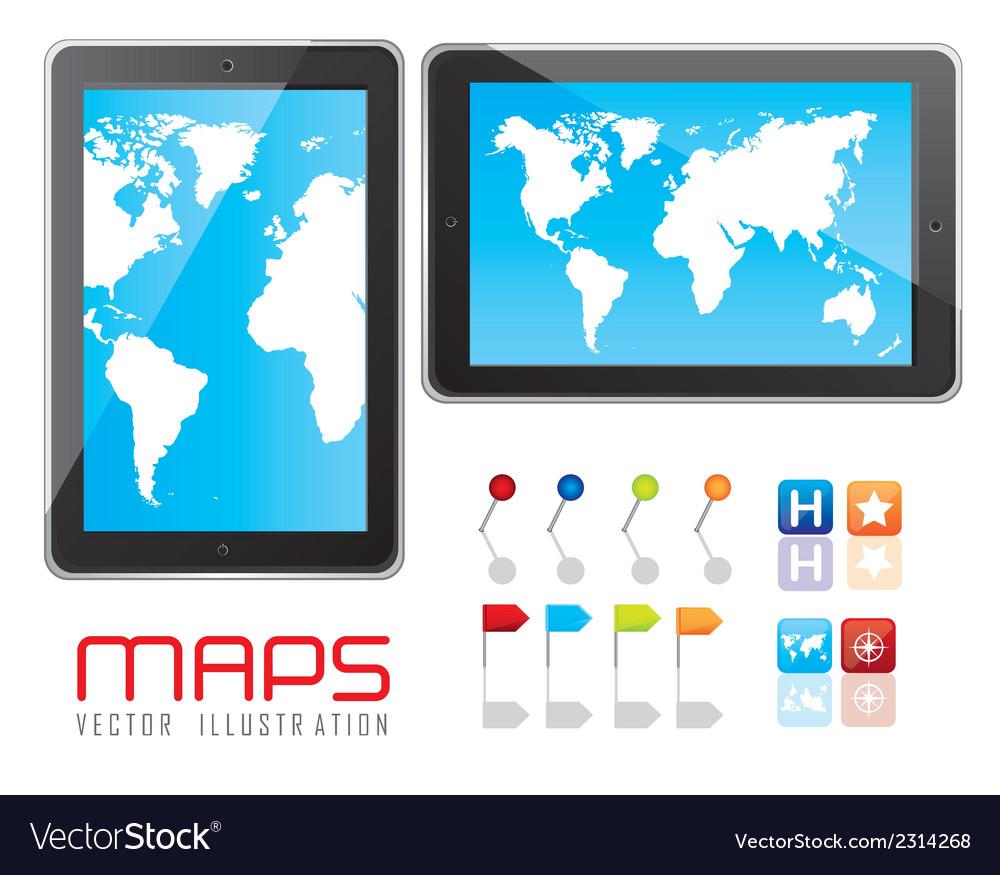 Digital tablet vector | Price: 1 Credit (USD $1)
