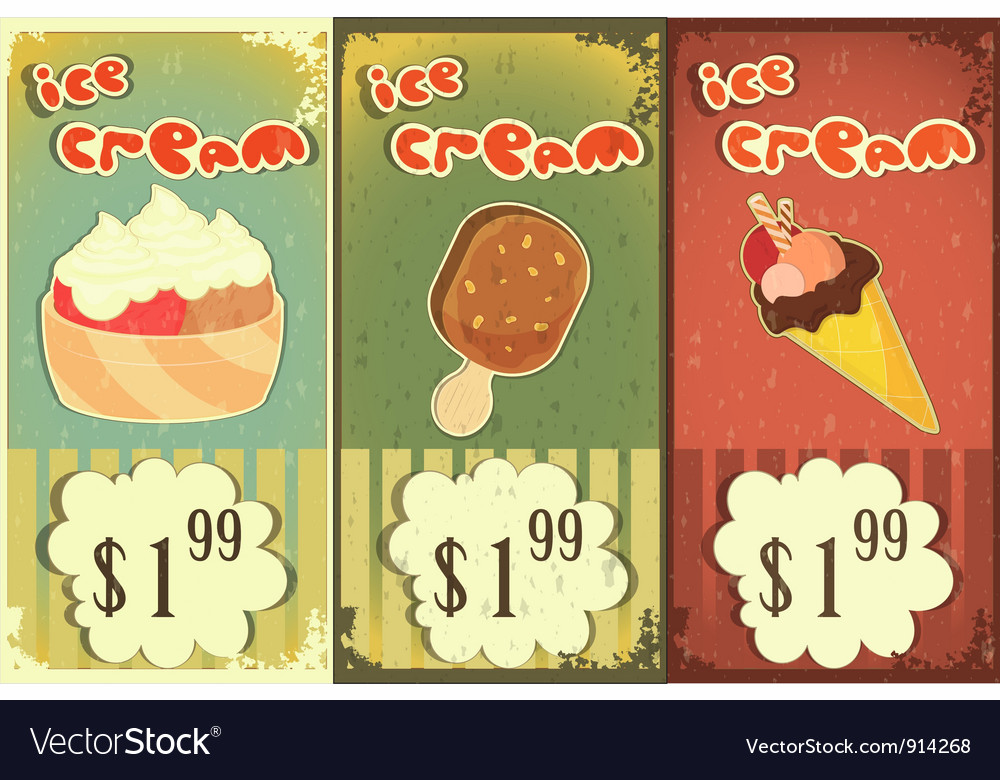 Ice cream price vector | Price: 3 Credit (USD $3)