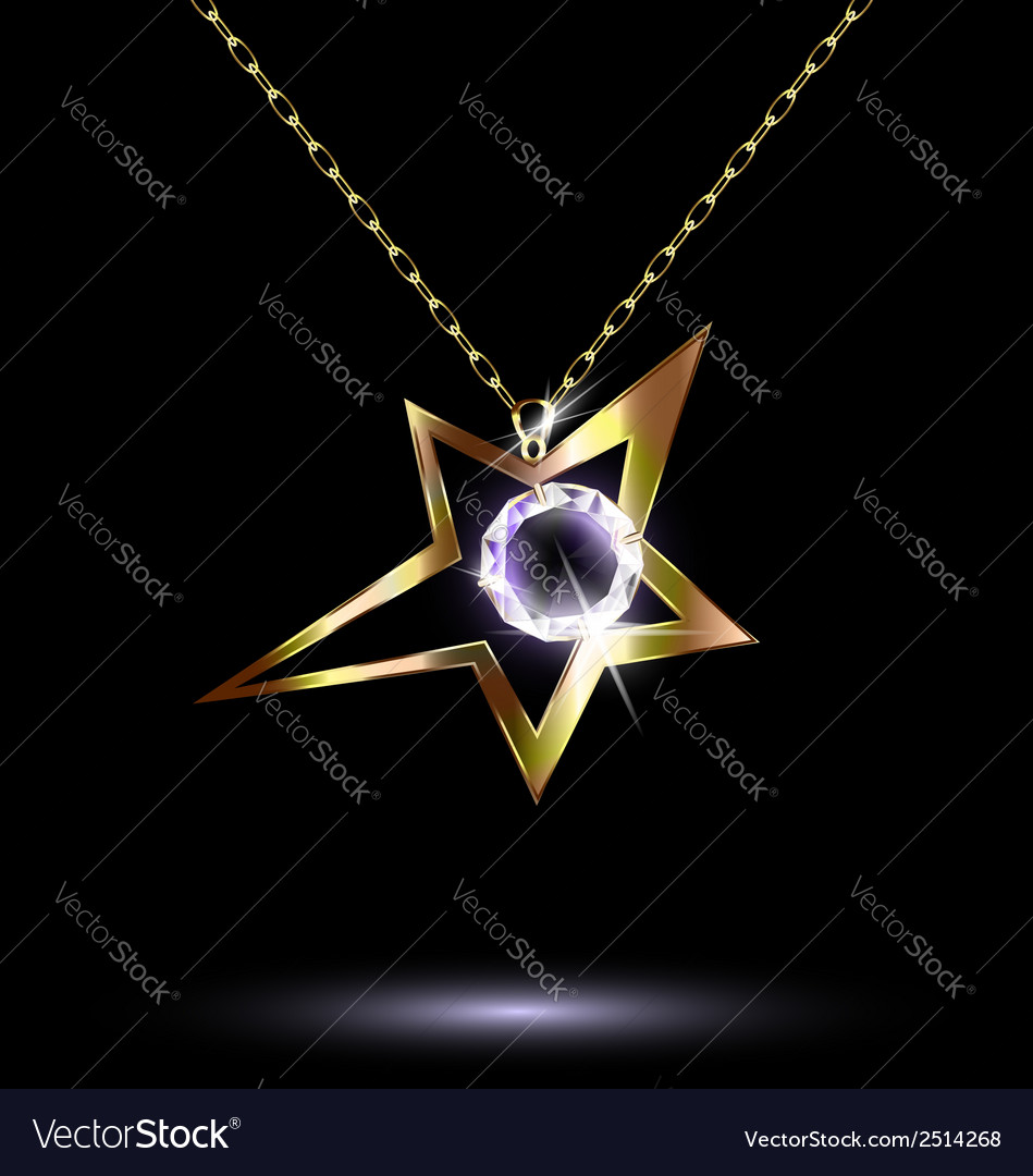 Pendant with a large star vector | Price: 1 Credit (USD $1)