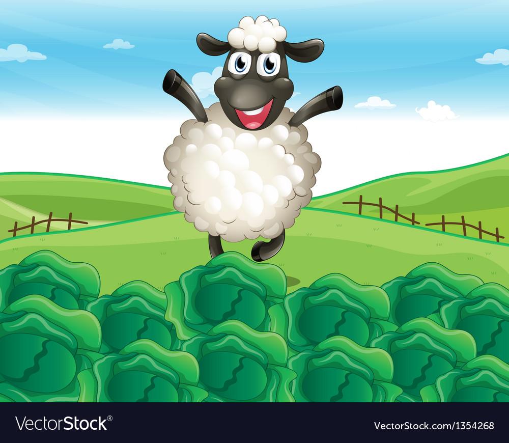 Sheep farm vector | Price: 1 Credit (USD $1)