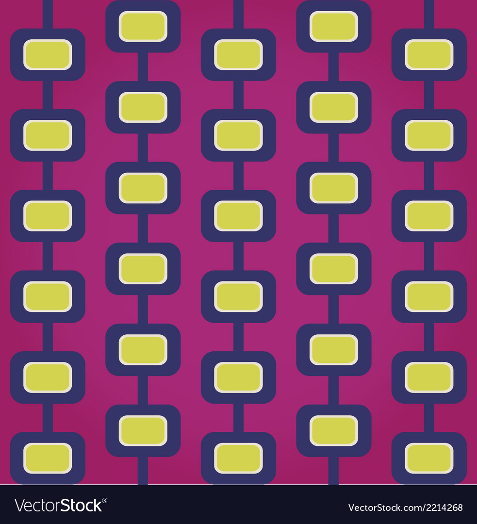 Sixties retro seamless pattern vector | Price: 1 Credit (USD $1)