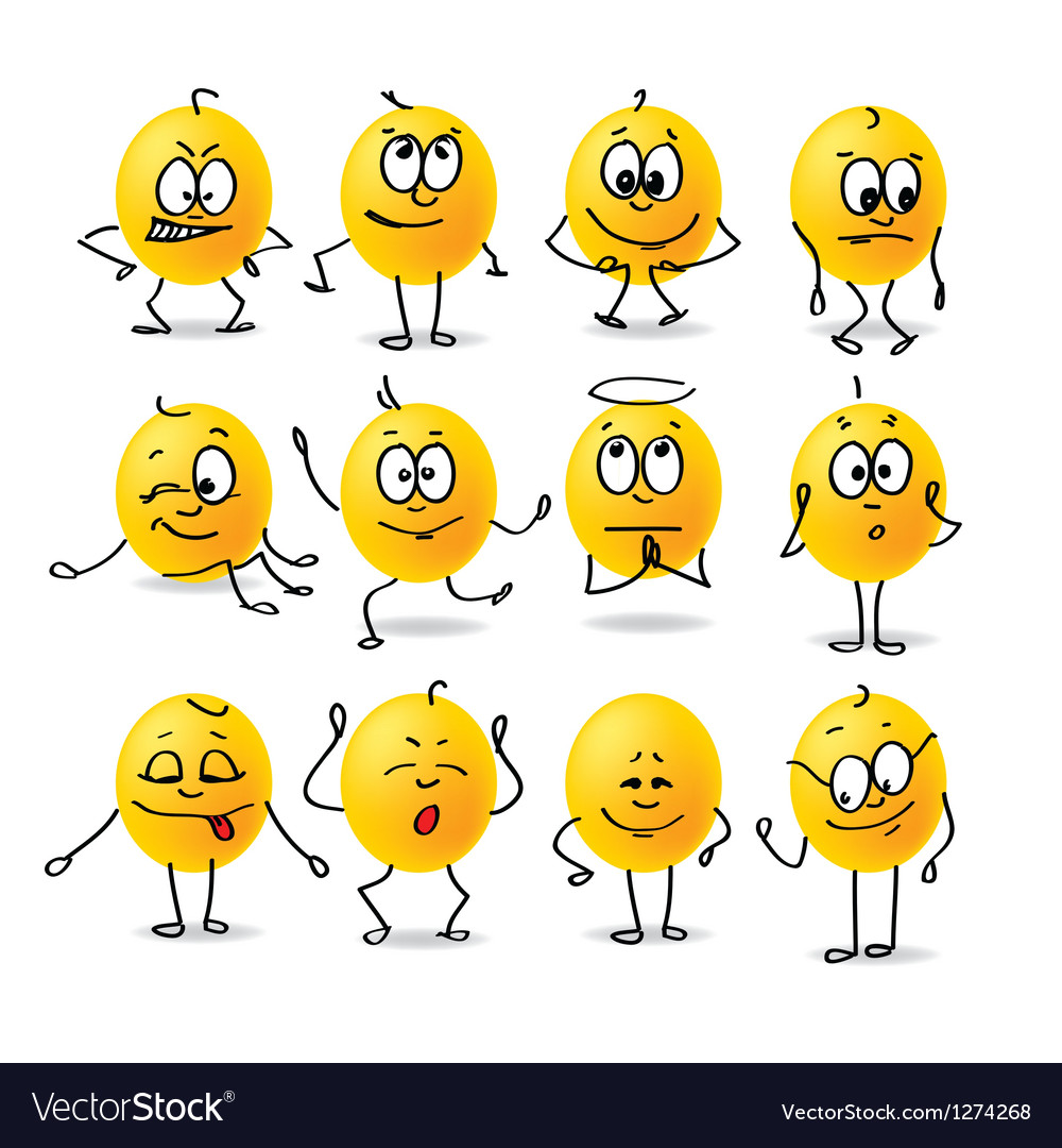 Smiley emotions vector | Price: 1 Credit (USD $1)