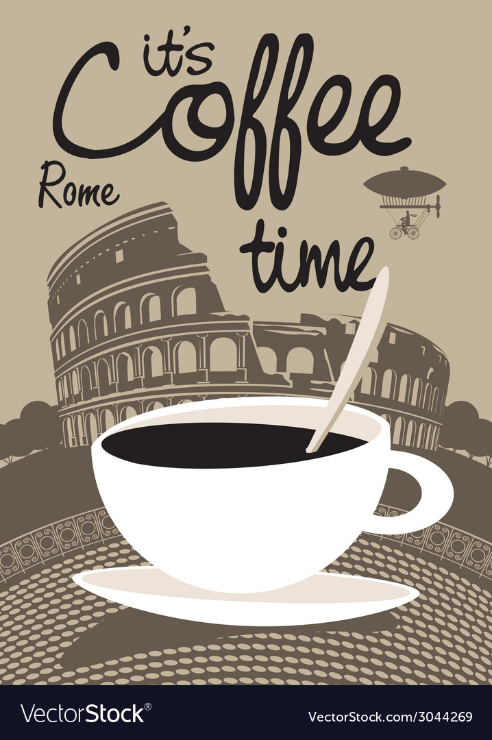 Coffee rome vector | Price: 1 Credit (USD $1)
