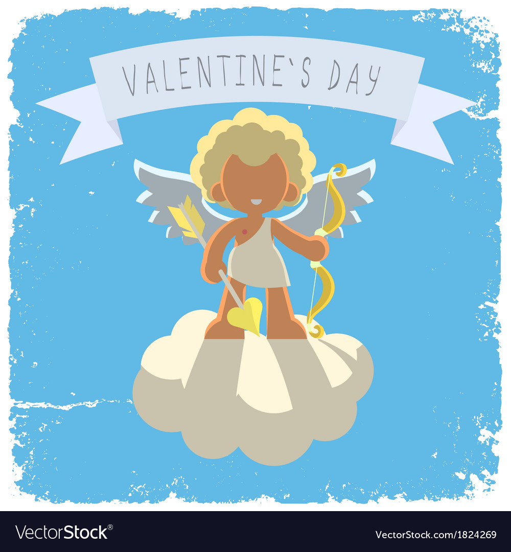 Cupid on a cloud vector | Price: 1 Credit (USD $1)