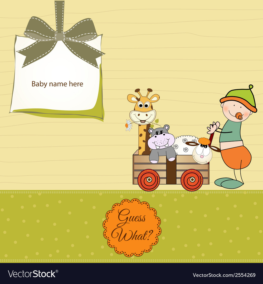 First birthday card vector | Price: 1 Credit (USD $1)